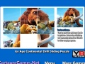 Permainan Ice Age Kontinental Drift Sliding Puzzle online - permainan online